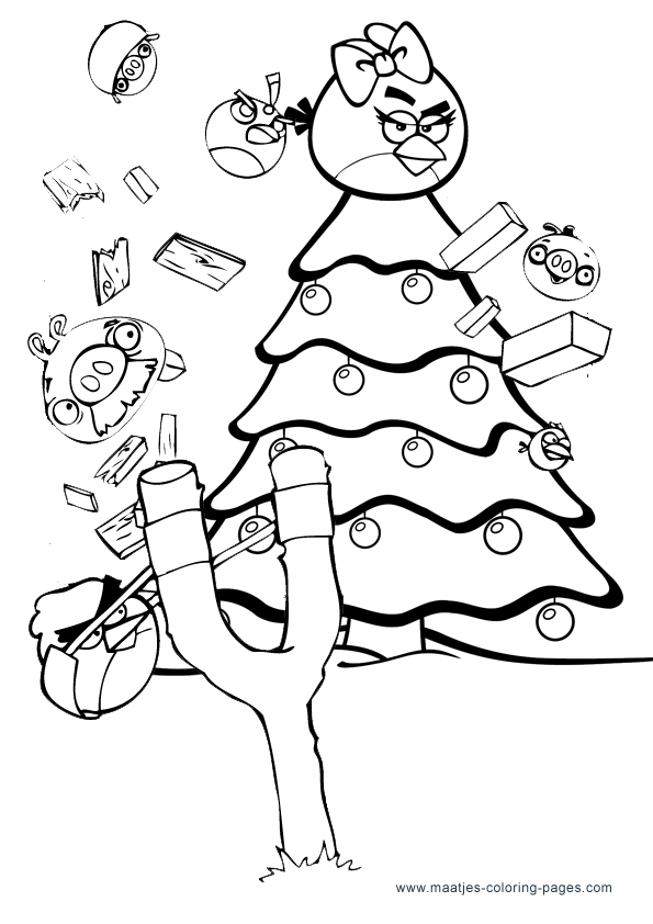 christmas angry birds coloring pages