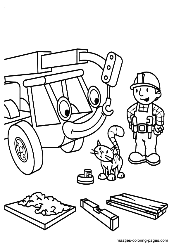 Bob The Builder Coloring Page Tv Series Coloring Page | PicGifs.com | 842x595
