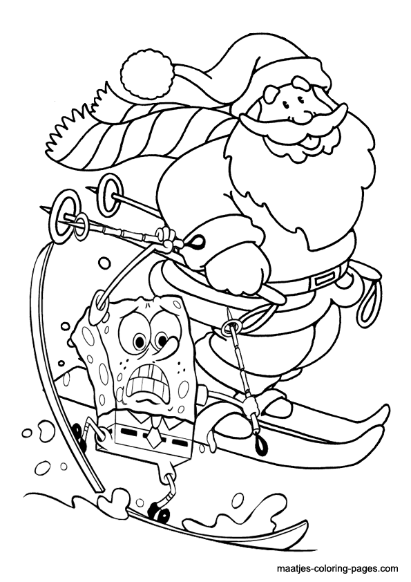 spongebob christmas coloring pages