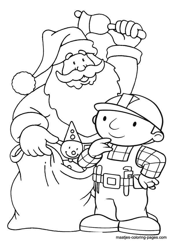 Bob The Builder Christmas Coloring Pages