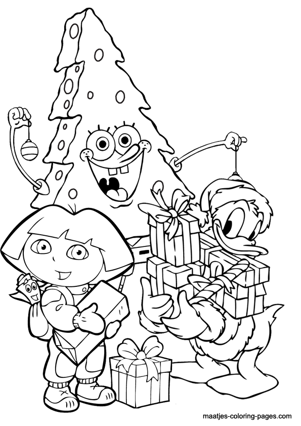 Christmas Spongebob coloring pages