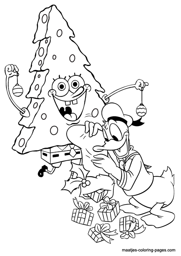 Spongebob Christmas Coloring Pages Free Printable - Coloring Home | 842x595