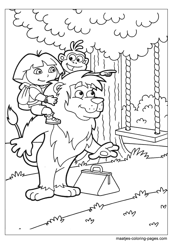Top 20 Printable Dora the Explorer Coloring Pages - Online ...   842x595