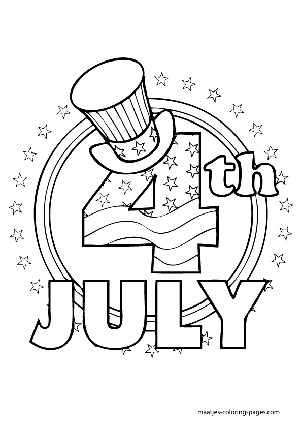 free coloring pages of independence day