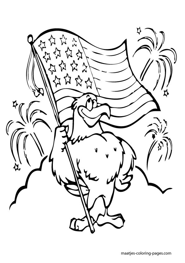 Independence Day Coloring Pages for kids