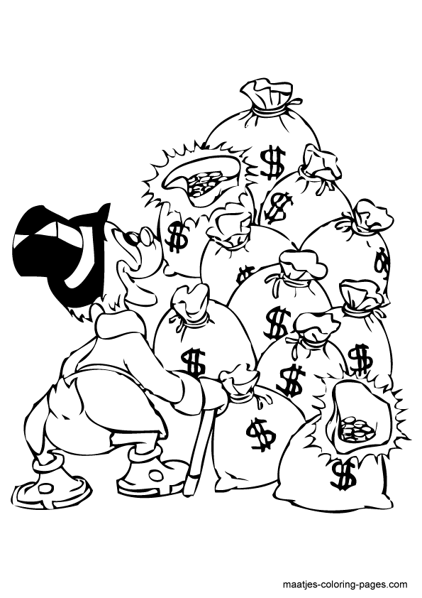Scrooge Mcduck Coloring Page