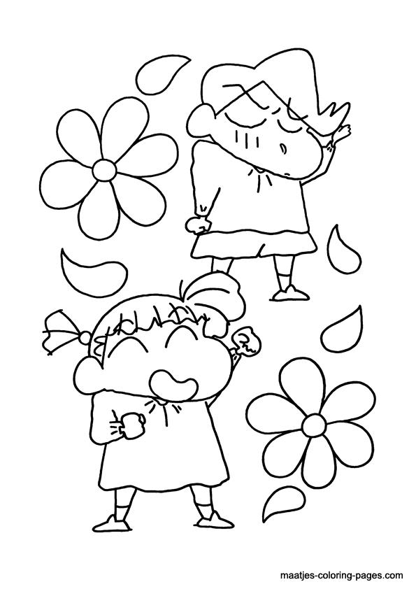 shin chan coloring pages shin chan coloring page