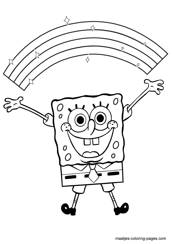 Kleurplaten One Direction Printen.Spongebob Kleurplaten