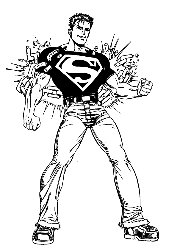 Kleurplaten Superhelden.Superhelden Kleurplaten