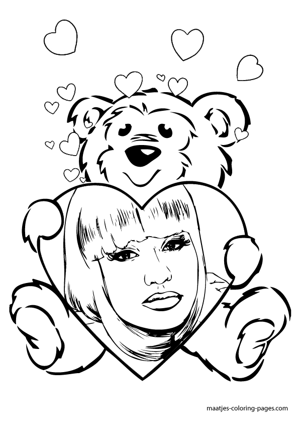 Nicki Minaj Valentines day coloring page
