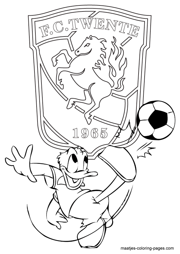kleurplaten voetbal fc twente