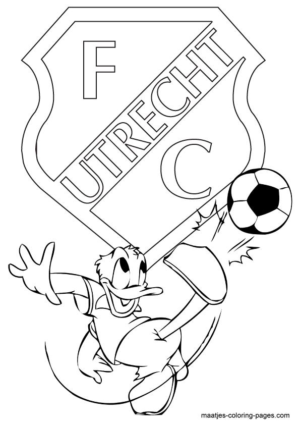 Kleurplaten Van Een Voetbal.Voetbal Kleurplaten Eredivisie Clubs Nederland