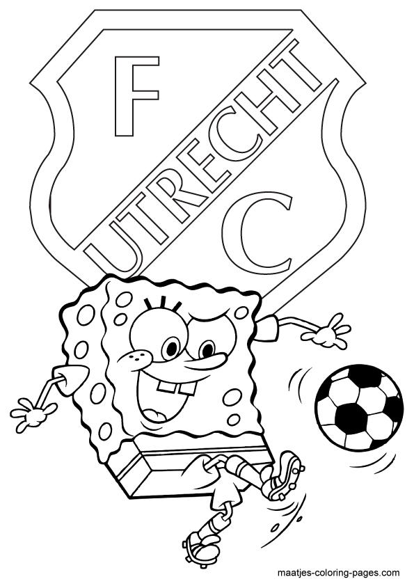 kleurplaten voetbal fc utrecht