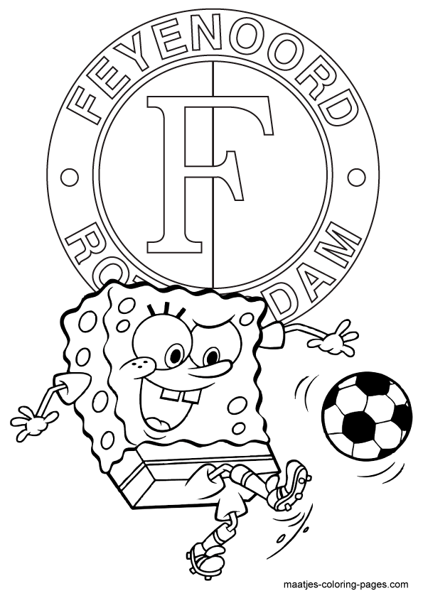 kleurplaten voetbal feyenoord
