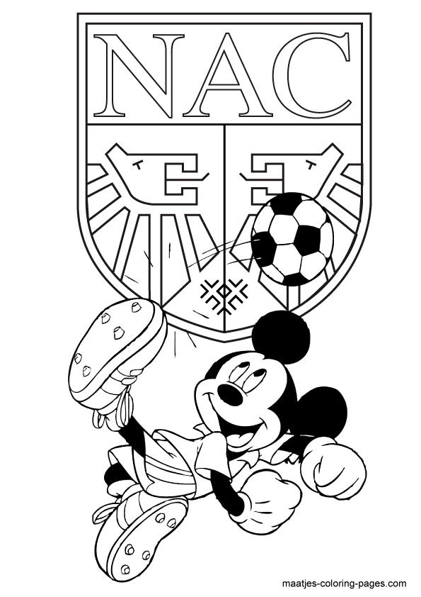Nac Mickey Mouse Kleurplaat