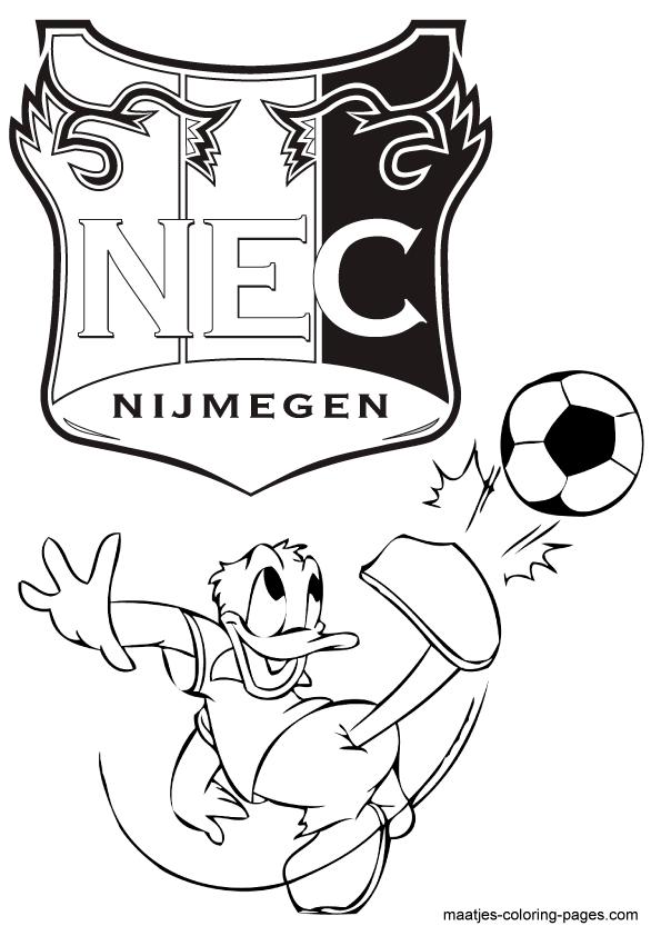 Kleurplaten Voetbal Nec.Voetbal Kleurplaten Eredivisie Clubs Nederland