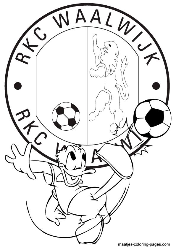 Voetbal Kleurplaat Nederland Voetbal Kleurplaten Eredivisie Clubs Nederland