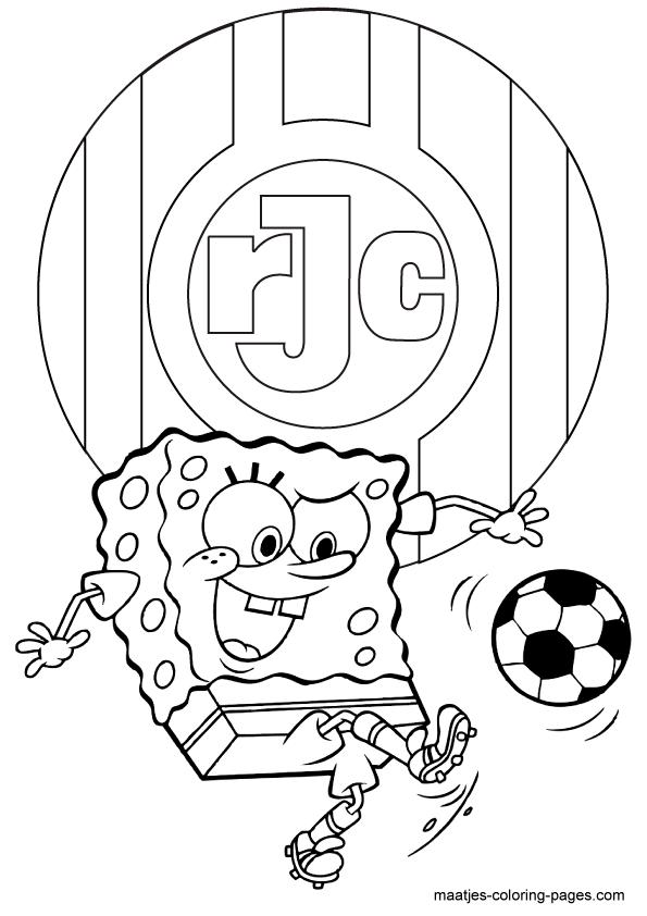 Kleurplaten Printen Spongebob.Ajax Kleurplaat Printen Roda Jc Spongebob Squarepants Kleurplaat