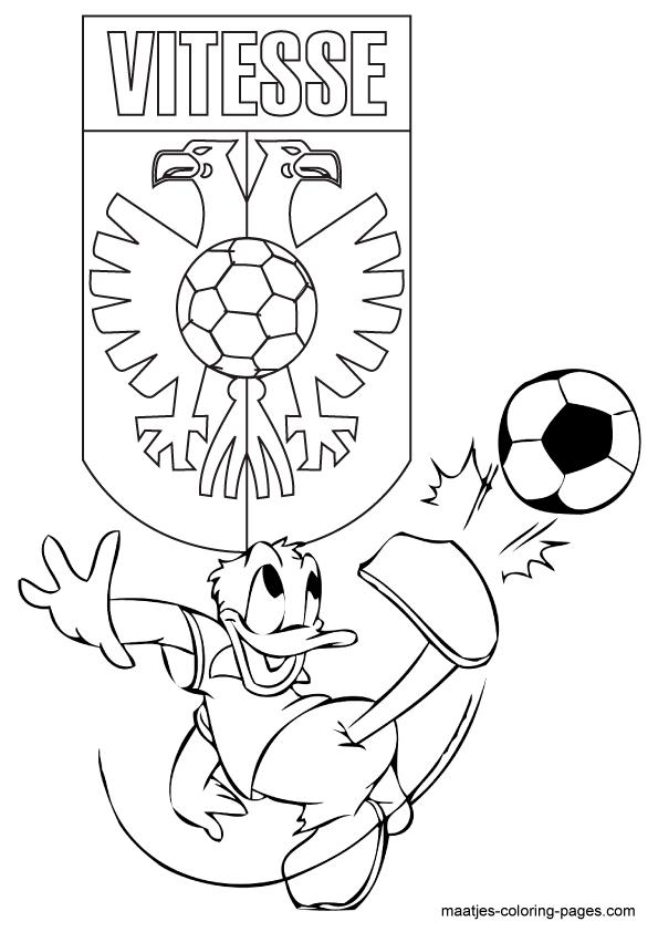 Vitesse Donald Duck Kleurplaat