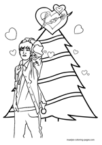 Justin Bieber Christmas Coloring Pages Justin Bieber Coloring Pages