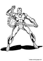 Kleurplaten Iron Man 3.Ironman Kleurplaten