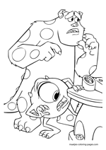 Kleurplaten Angry Birds Race.Monsters Inc Coloring Pages