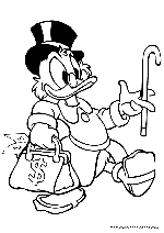 Scrooge Mcduck Coloring Pages