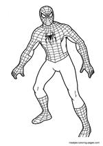 Kleurplaten Spiderman 4.Spiderman Coloring Pages Overview 1